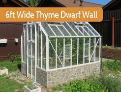 6ft Wide Powder Coated Dwarf Wall Elite Thyme
