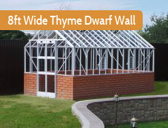 8ft Wide Powder Coated Dwarf Wall Elite Thyme