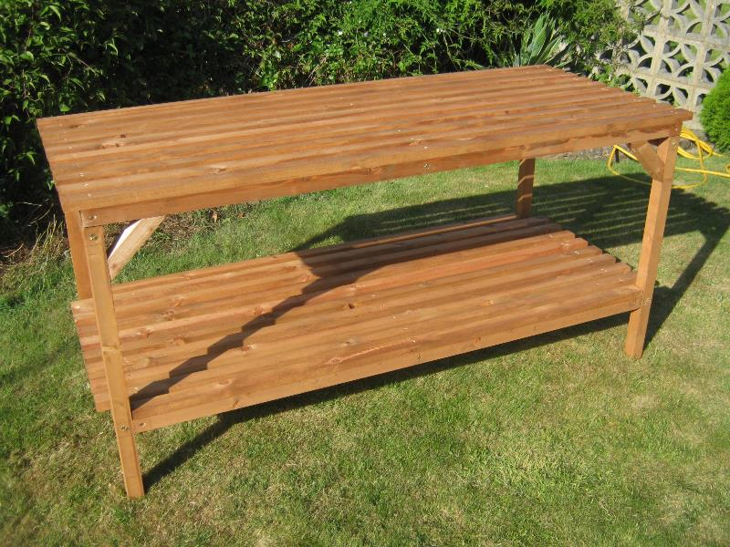 Heavy duty 6ft x 30 greenhouse wooden staging south - Wooden staging for greenhouse ...