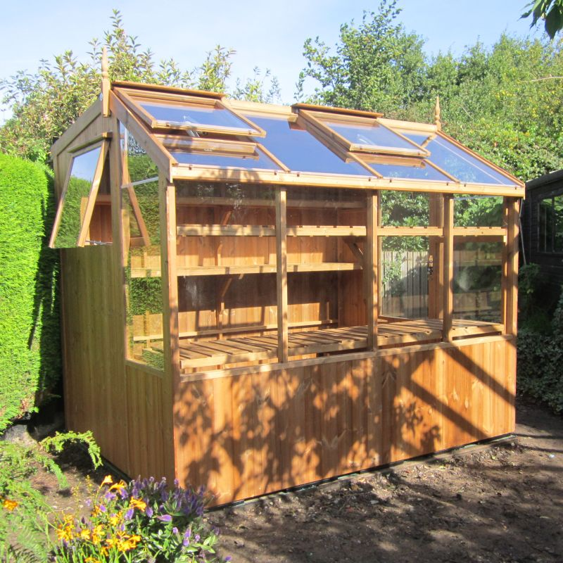 Wooden potting shed 6x16 swallow jay for Potting shed