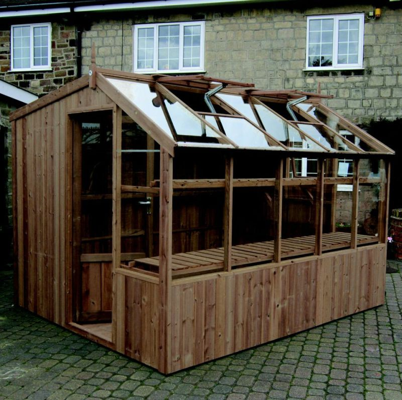 Wooden 8x18 swallow rook potting shed for sale south for Potting sheds for sale