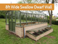 Dwarf Wall Swallow 8ft Wide Raven