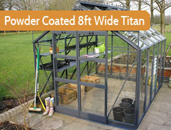 Powder Coated 8ft Wide Premium Titan