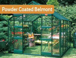 8ft Wide Powder Coated Belmont Greenhouses