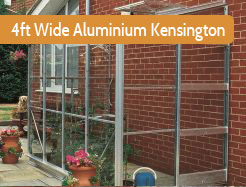 Elite 4ft Wide Kensington Aluminium Lean To