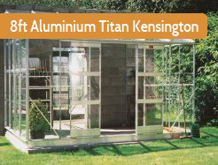 Elite 8ft Wide Titan Kensington Aluminium Lean To