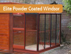 Elite Powder Coated Windsor Lean To