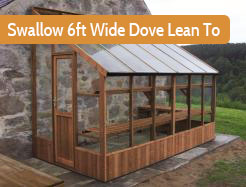 Swallow 6ft Wide Dove Lean To