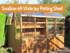 Swallow 6ft Wide Jay Potting Shed