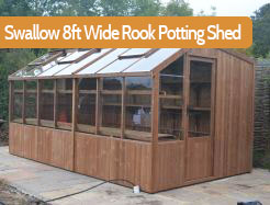 Swallow 8ft wide Rook Potting Shed