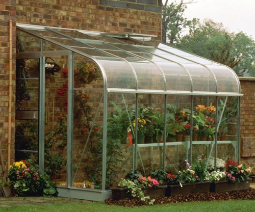 Halls 6x10 Silverline Curved Lean To