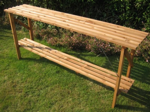 6ft x 14'' Wooden Folding Greenhouse Staging