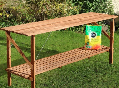 6ft x 21'' Wooden Folding Greenhouse Staging