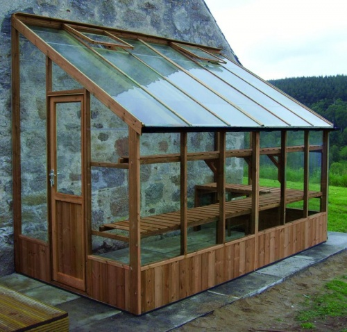 Swallow 6'-7 x 20'-10 Dove Lean To Greenhouse