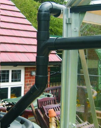 Elite 6ft Wide Rainwater Kit to One Gutter