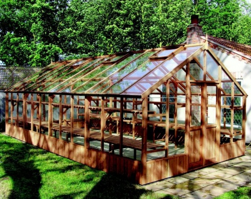 Swallow 13'-1 x 25'-2 Falcon Wooden Greenhouse