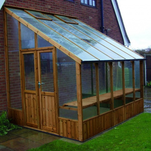 Swallow 8'-8 x 20'-10 Heron Lean To Greenhouse