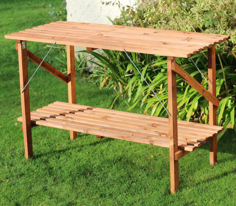 4ft x 21'' Wooden Folding Greenhouse Staging