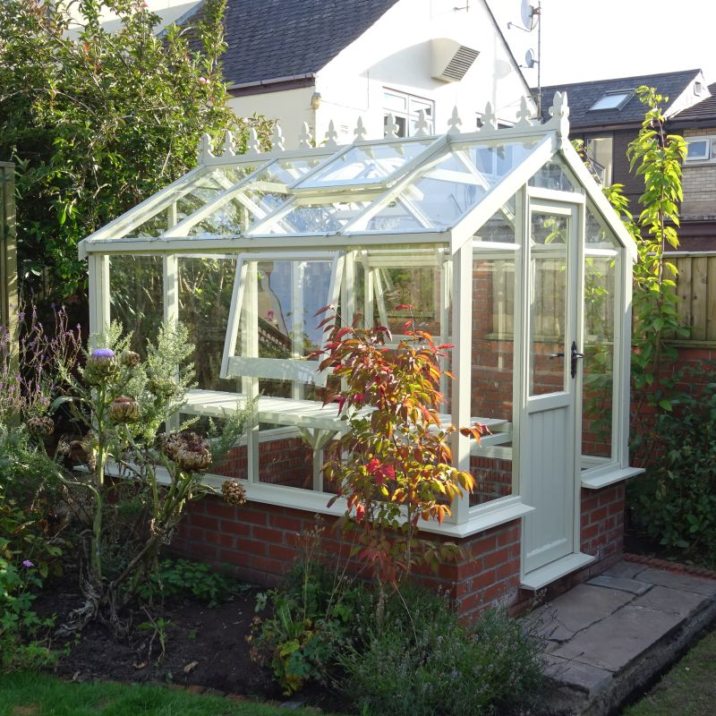 Dwarf Wall 6x4 Clearview Wiltshire Wooden Greenhouse