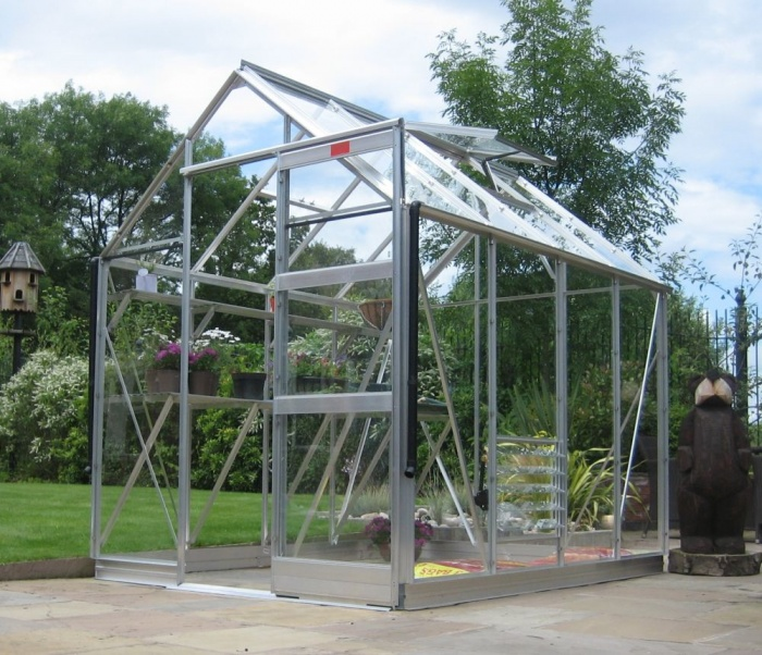 6x12 Elite High Eave Aluminium Finish