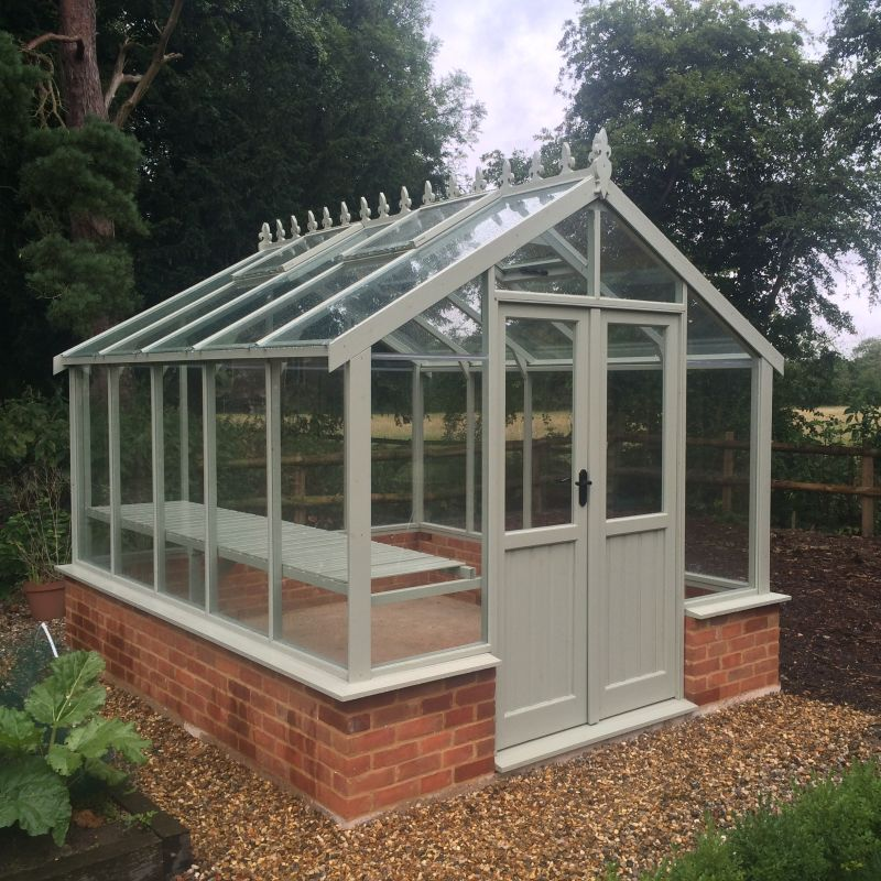 Clearview Hampshire 8x14 Wooden Dwarf Wall Greenhouse Buy