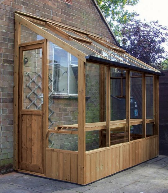 Swallow 4'-6 x 12'-7 Finch Lean To Greenhouse