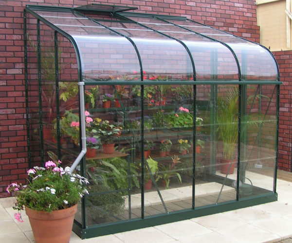 Halls 6x10 Green Silverline Curved Lean To