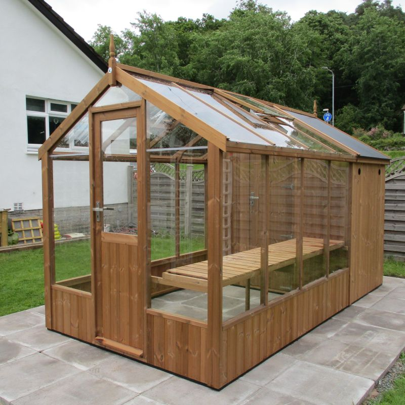 Swallow 6x8 combination shed