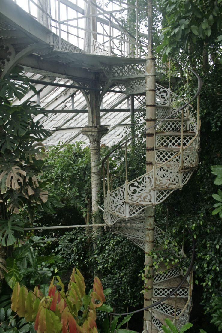 victorian greenhouse staircase